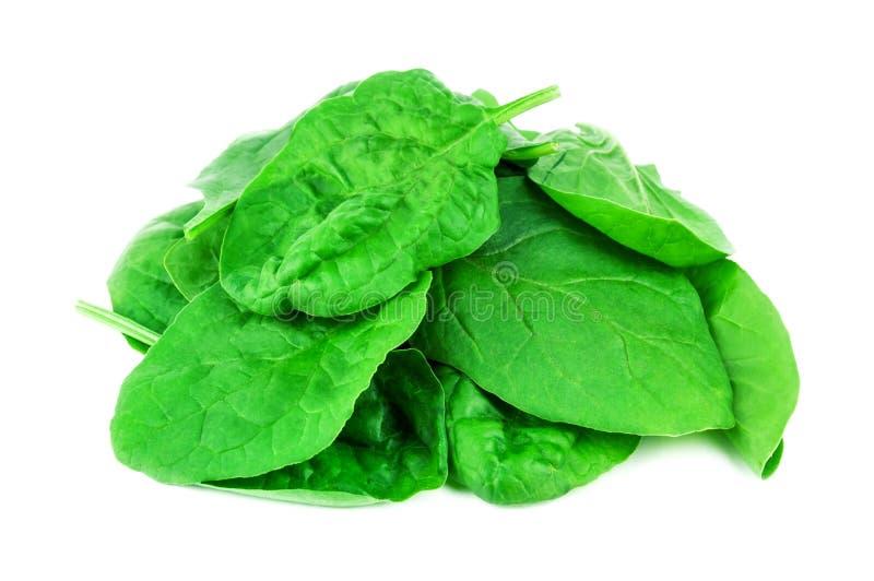 Hoop van groene spinazie stock afbeelding