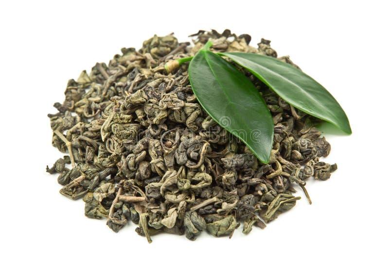 Hoop van groene thee royalty-vrije stock afbeeldingen