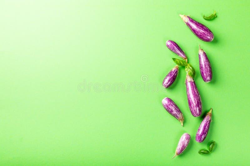 Hoop van kleine aubergine of aubergine royalty-vrije stock foto's
