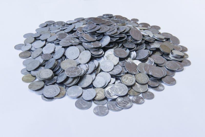 Hoop van muntstukken royalty-vrije stock afbeeldingen
