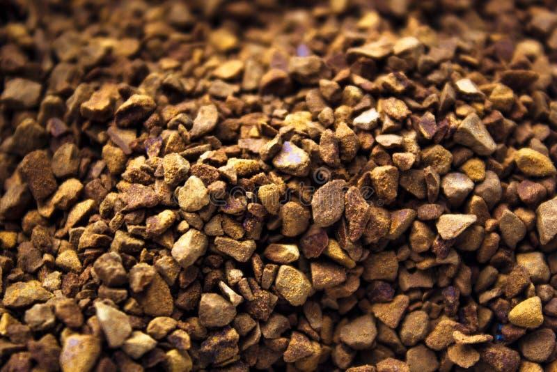 Hoop van onmiddellijke koffie voor Hoge close-up als achtergrond - kwaliteit royalty-vrije stock foto's