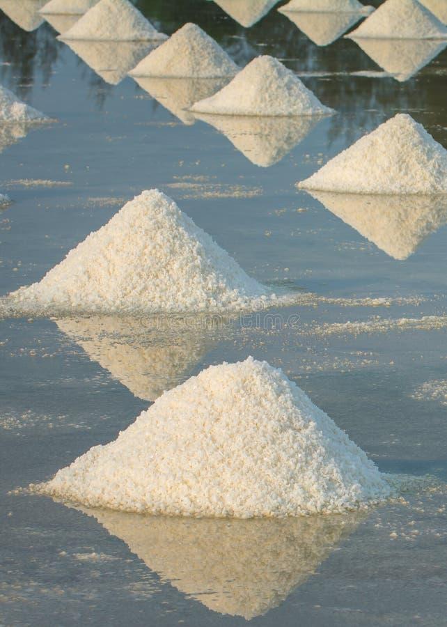 Hoop van overzees zout stock foto's