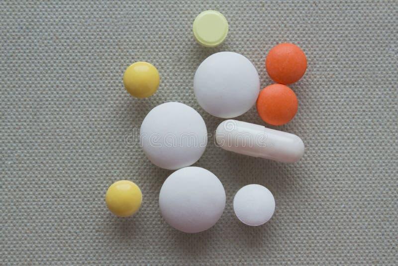 Hoop van pillen stock foto's