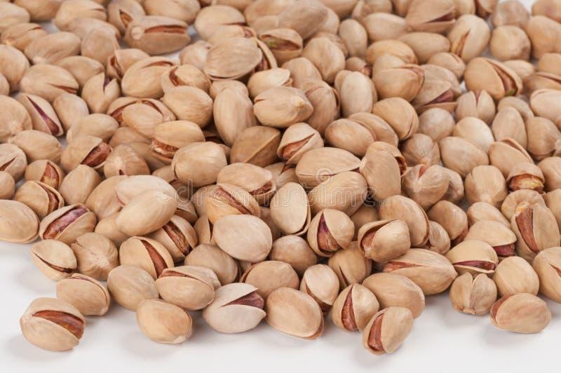 Hoop van pistaches stock afbeeldingen