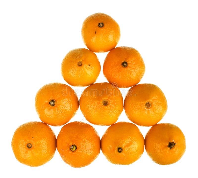 Hoop van rijpe verse sappige mandarijnen stock foto's