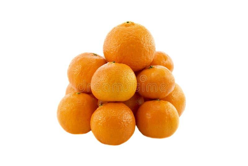 Hoop van rijpe verse sappige mandarijnenmandarins royalty-vrije stock foto's