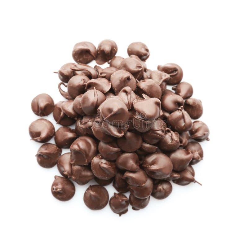 Hoop van smakelijke chocoladeschilfers royalty-vrije stock afbeelding