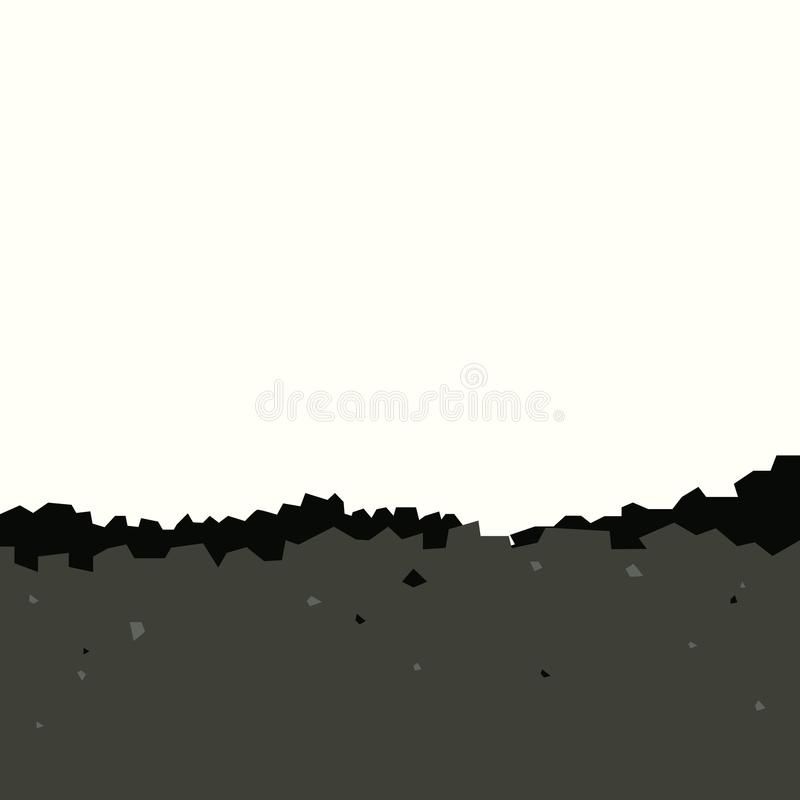 Hoop van steenkool vector illustratie