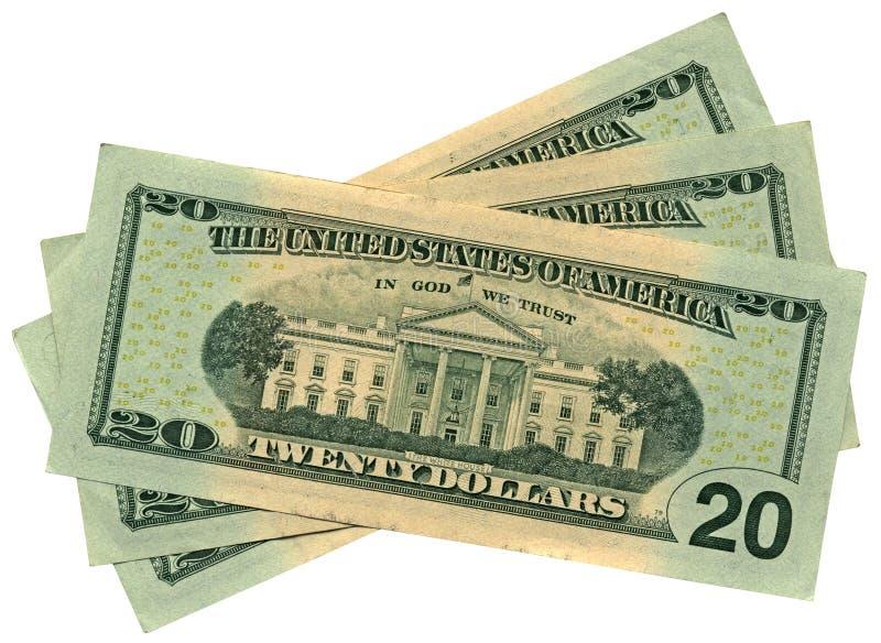 Download Hoop Van Twintig Geïsoleerder Dollars, Besparingenrijkdom Stock Afbeelding - Afbeelding bestaande uit economisch, financiën: 10438339