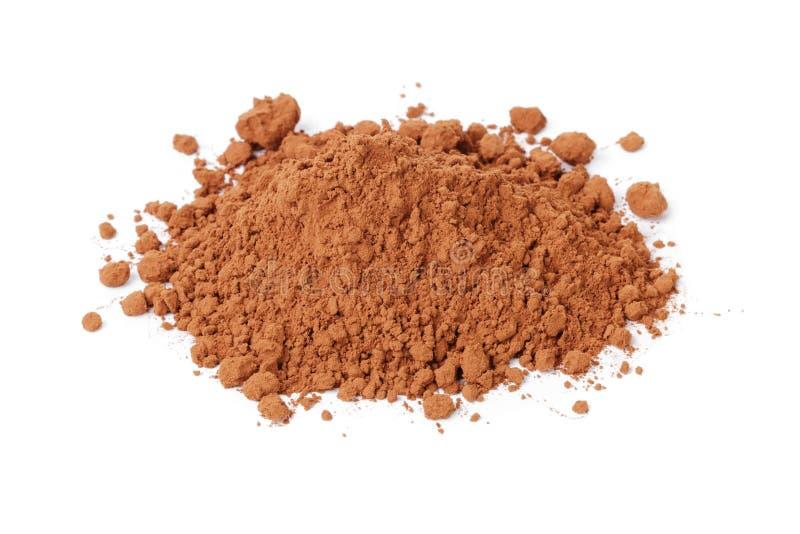 Hoop van vers cacaopoeder stock foto