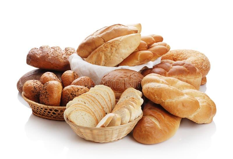 Hoop van verschillend brood stock afbeelding