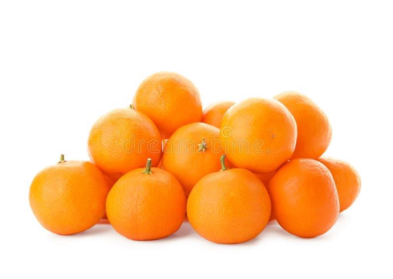 Hoop van verse rijpe mandarijnen royalty-vrije stock foto's