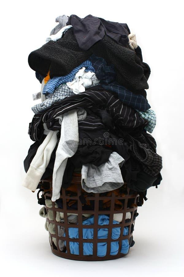Hoop van vuile kleren stock foto