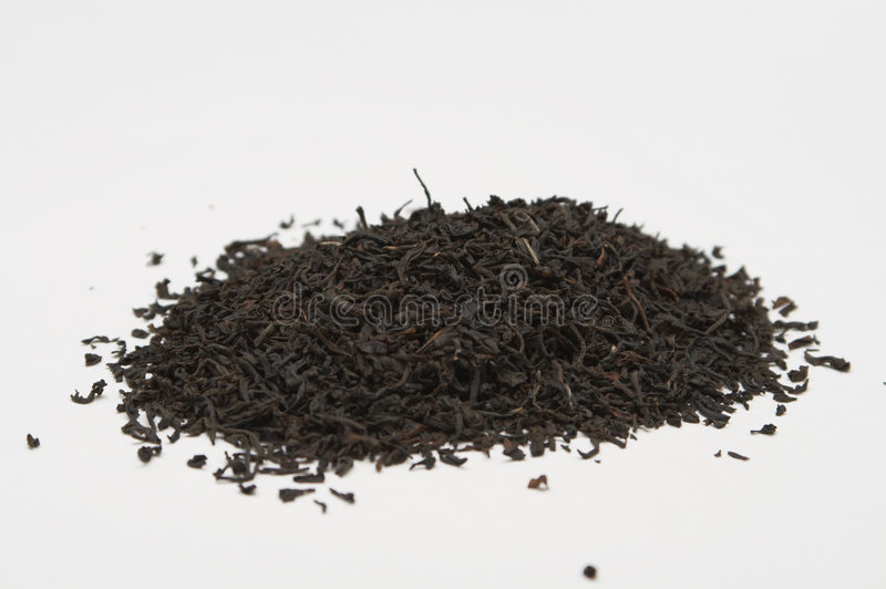 Hoop van zwarte thee royalty-vrije stock fotografie