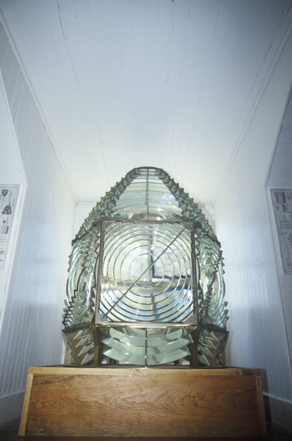 Hooper Strait Lighthouse-Lampe bei Hooper Strait in Tanger-Ton, Chesapeake Bay-Seemuseum in St. Michaels, MD lizenzfreies stockbild