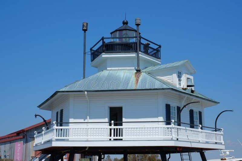 Hooper Straits Lighthouse storico sulla baia di Chesapeake fotografia stock
