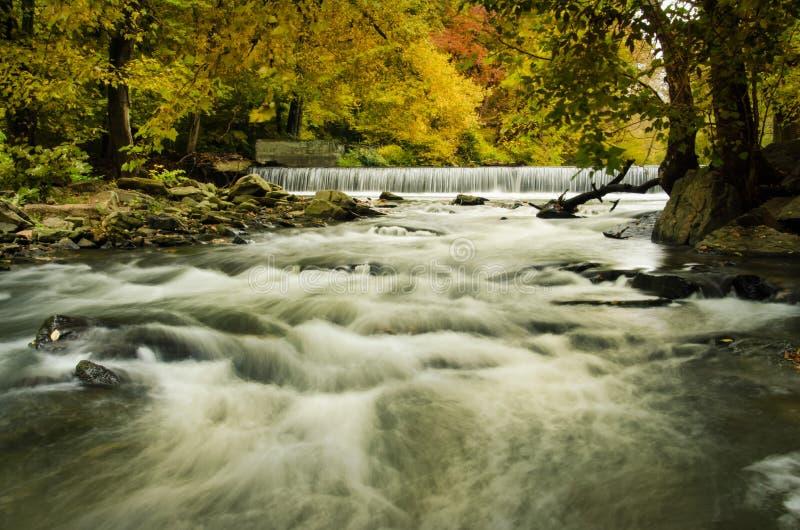 Hoopes понижается в осень стоковое фото