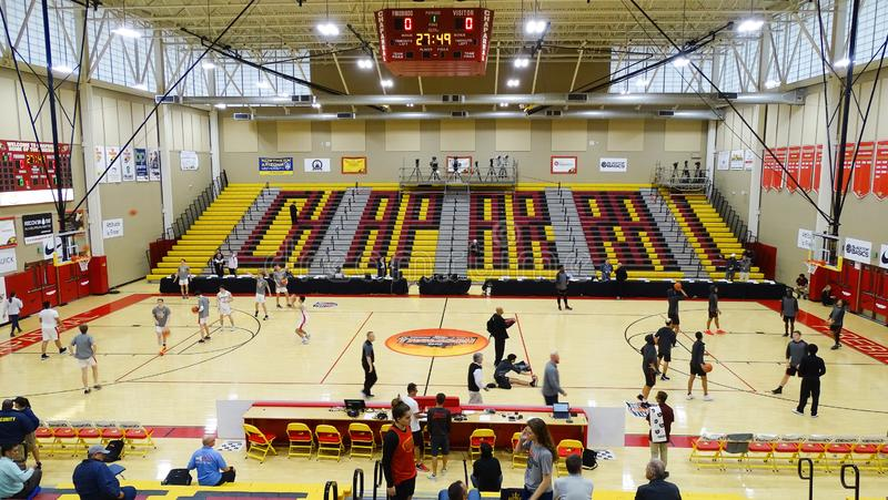 2018 Hoophall West at Chaparral High School in Scottsdale, AZ stock image