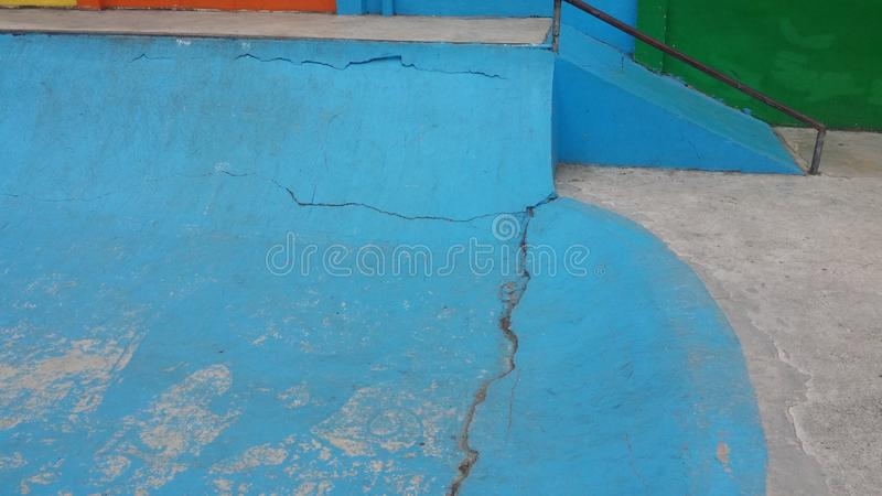 Hoops Dome Skate Park. This is the Hoops Dome Skate Park in Lapu-Lapu City on Mactan Island in Metro Cebu, Philippines. It is clearly in need of some restoration stock photography