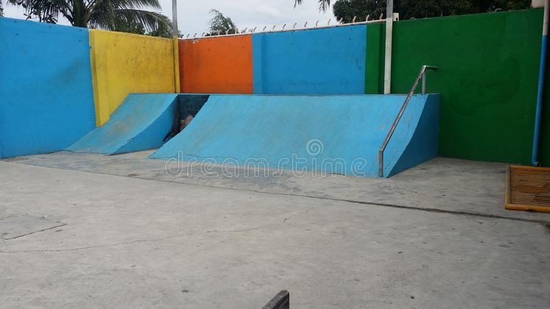 Hoops Dome Skate Park. This is the Hoops Dome Skate Park in Lapu-Lapu City on Mactan Island in Metro Cebu, Philippines. It is clearly in need of some restoration royalty free stock images