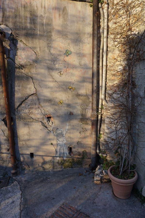Hoopvolle Graffiti royalty-vrije stock foto's
