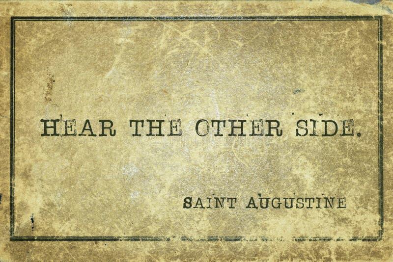 Hoor anderen Heilige Augustine stock afbeeldingen