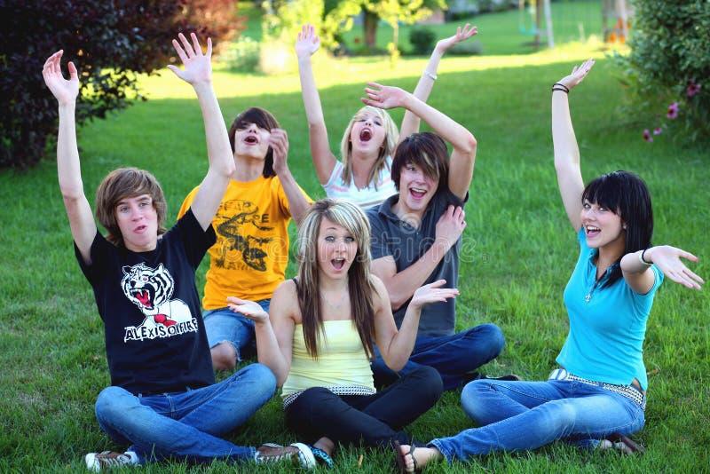 Hooray De L Adolescence Photos libres de droits