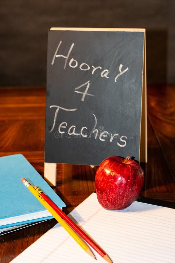 Hooray dla nauczycieli dla wszystko zdjęcia stock