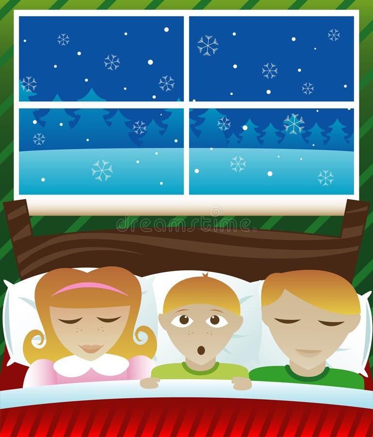 Hoorde ik Kerstman? royalty-vrije illustratie
