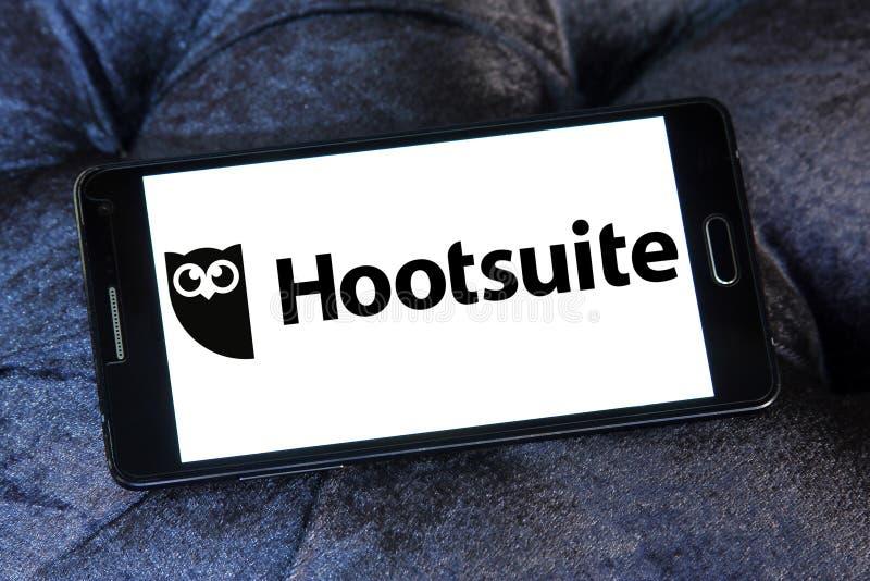 Hootsuite-Plattformlogo stockbilder