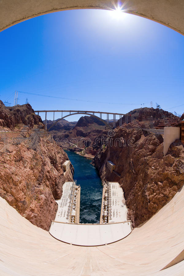 Download Hoover Dam stock image. Image of colorado, fisheye, canyon - 15818227