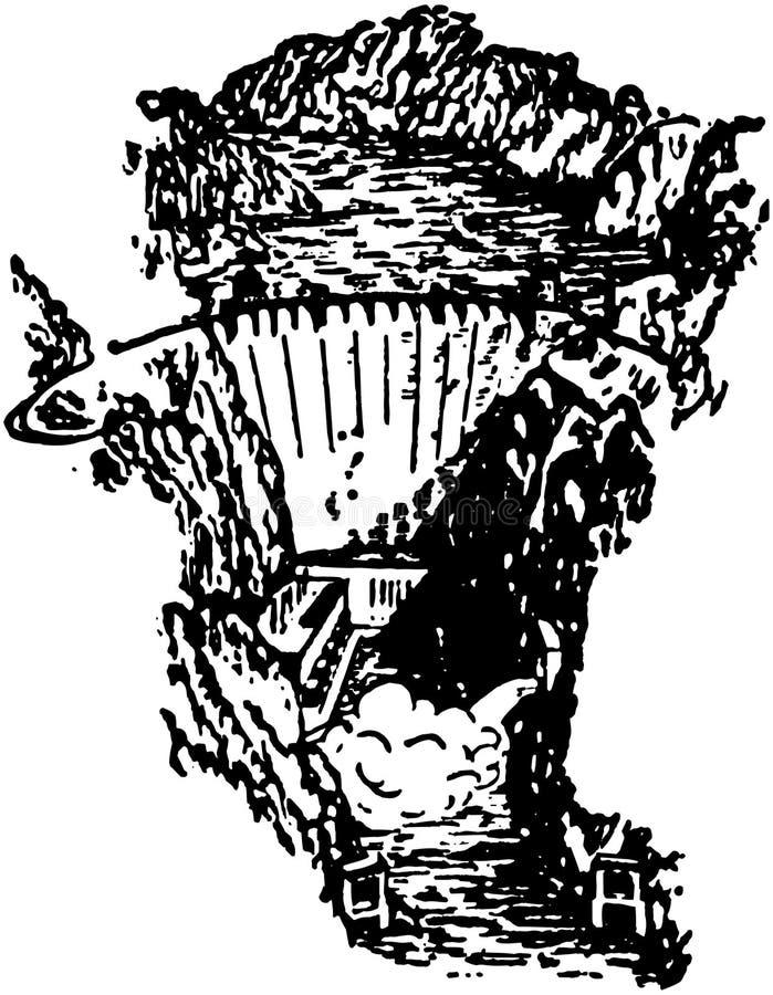 Hoover Dam stock illustration