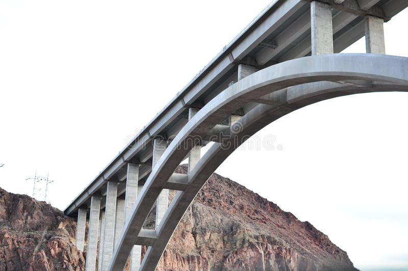Hoover Dam Bridge royalty free stock photos