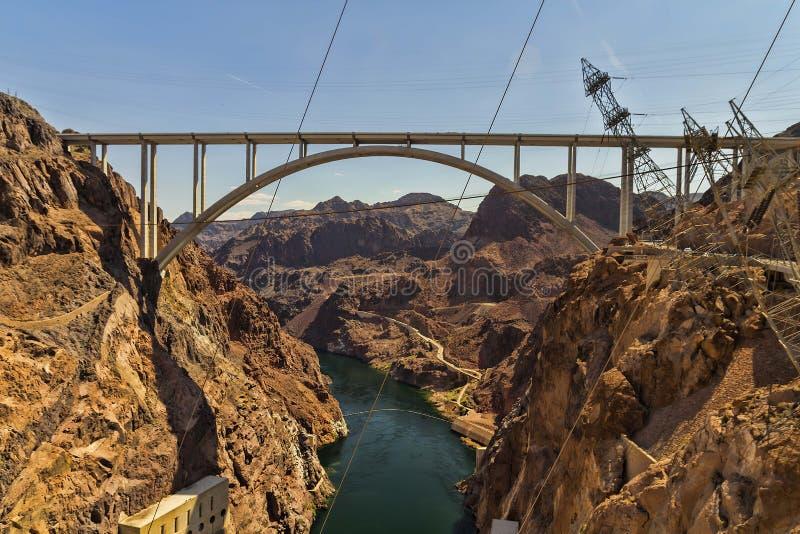 Hoover Dam Bridge royalty free stock photography