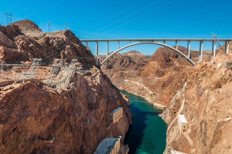 Hoover Dam Bridge stock photography