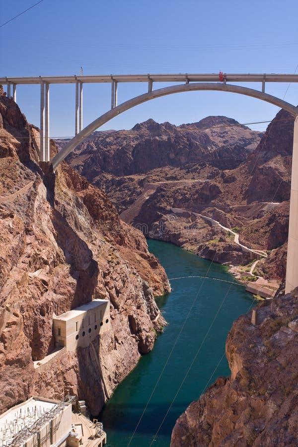 Hoover Dam bypass. Mike O'Callaghan - Pat Tillman Memorial Bridge royalty free stock photo