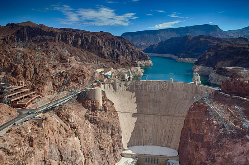 Hoover Dam from the Bypass royalty free stock photography