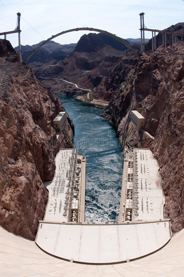 Download Hoover Dam And The Hoover Dam Bypass Bridge Stock Photo - Image of rock, plant: 11714160