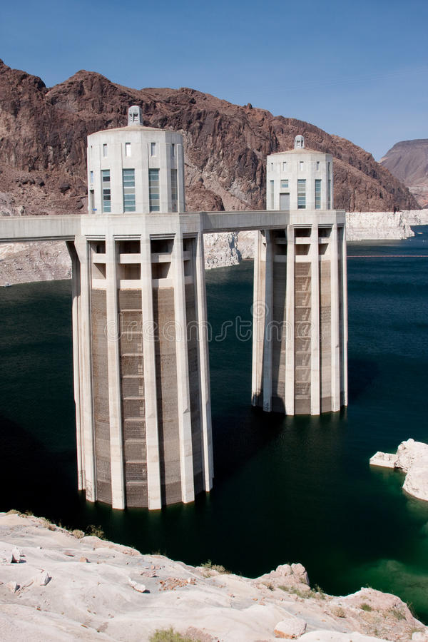 Download Hoover Dam Intake Towers Stock Image - Image: 12170441