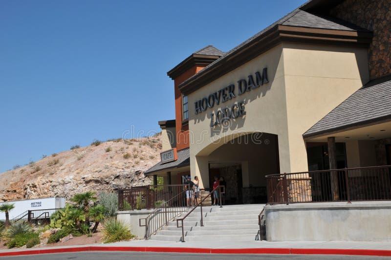 Hoover Dam Lodge near boulder city, Nevada, usa. Boulder city or near  / Nevada USA /  07.September 2019 / Hoover dam lodge  near boulder city way to Hoover Dam stock photos