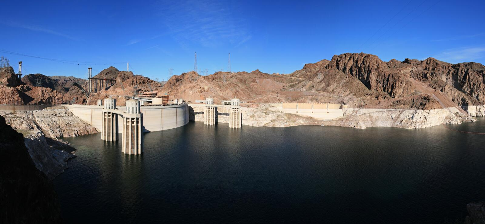 Download Hoover Dam panorama stock photo. Image of lake, mead, nevada - 8562986