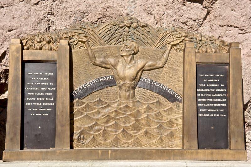 Hoover Dam Plaque Royalty Free Stock Photos