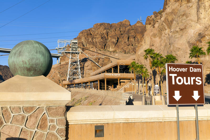 Hoover Dam Visitors Center in Boulder City, NV on May 13, 2013 royalty free stock photography