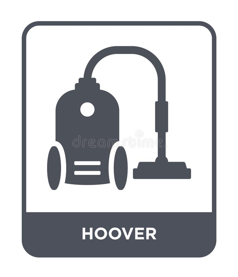 Hoover icon in trendy design style. hoover icon isolated on white background. hoover vector icon simple and modern flat symbol for. Web site, mobile, logo, app royalty free illustration