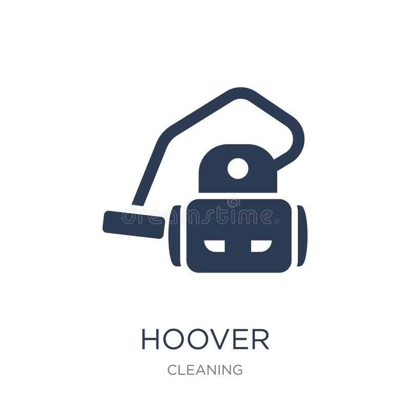 Hoover icon. Trendy flat vector hoover icon on white background. From Cleaning collection, vector illustration can be use for web and mobile, eps10 royalty free illustration