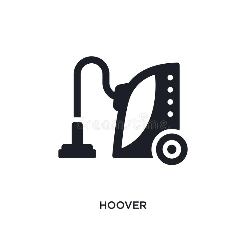 Hoover isolated icon. simple element illustration from cleaning concept icons. hoover editable logo sign symbol design on white. Background. can be use for web stock illustration