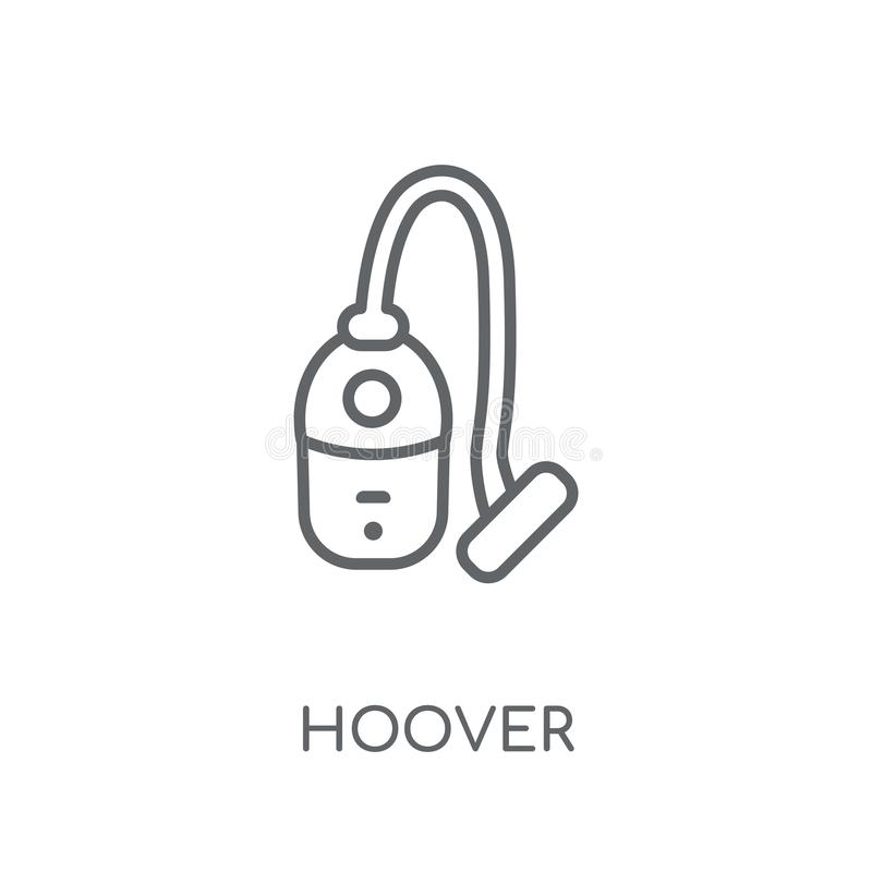 Hoover linear icon. Modern outline hoover logo concept on white. Background from cleaning collection. Suitable for use on web apps, mobile apps and print media vector illustration