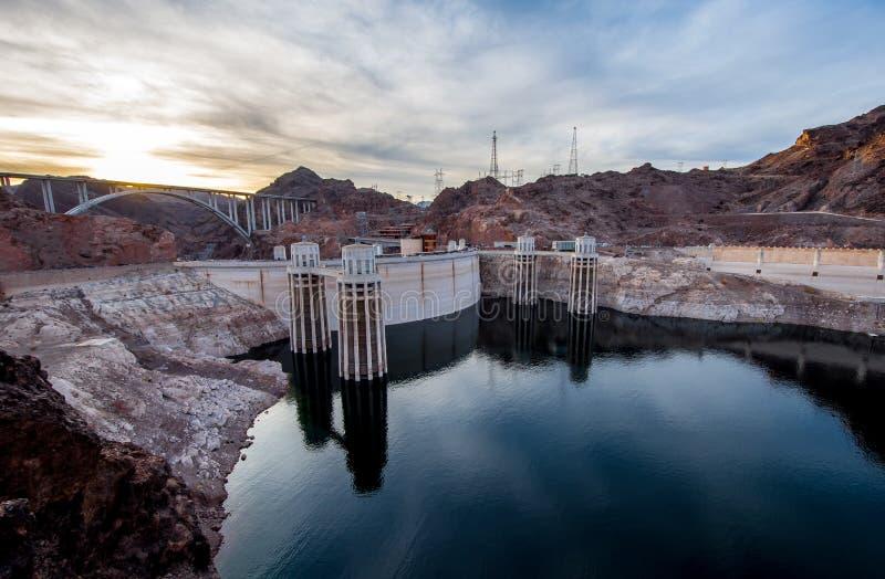 Hooverdam, Nevada en Arizona, de V.S. stock afbeelding