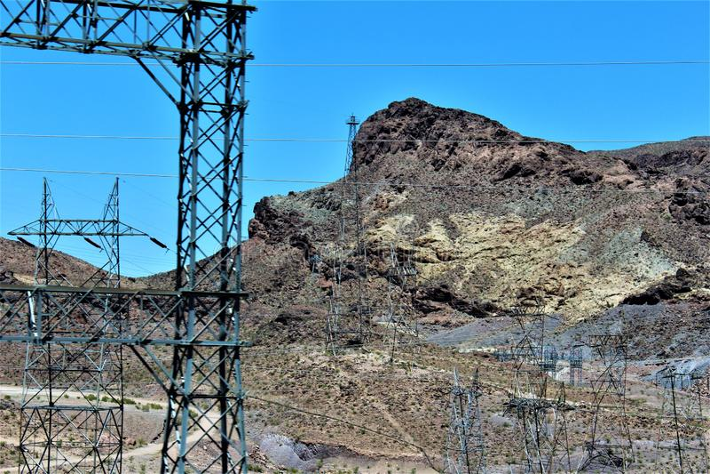 Hooverdamm, Büro der Reklamation, Clark County, Nevada/Mohave County Arizona, Vereinigte Staaten lizenzfreie stockbilder