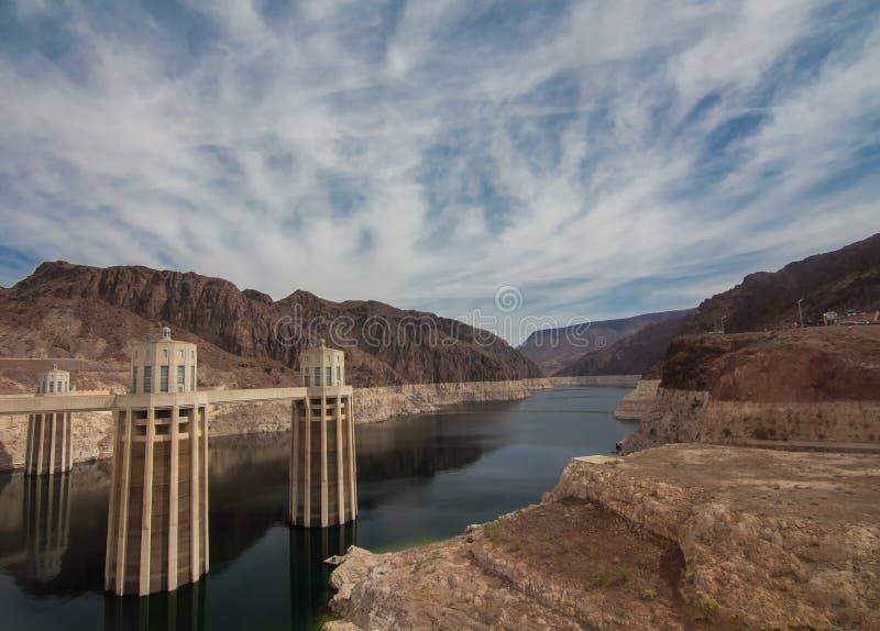 Hooverdamm in Nevada, USA lizenzfreies stockbild